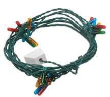 24 Bulb Colored Christmas Light String