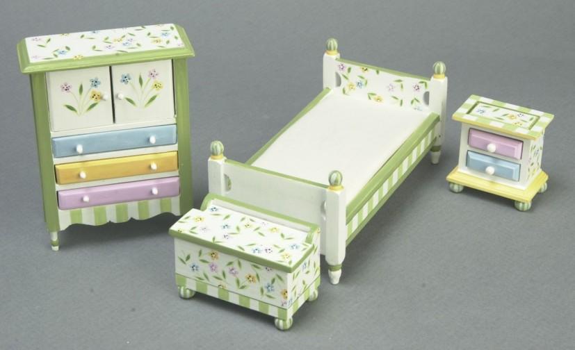 Springtime Bedroom Set From Fingertip Fantasies Dollhouse